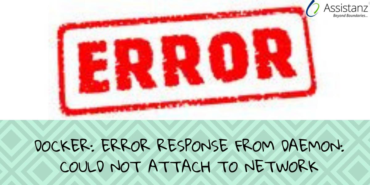 Error response from daemon